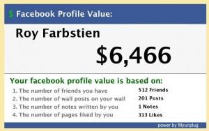 שווי פרופיל פייסבוק