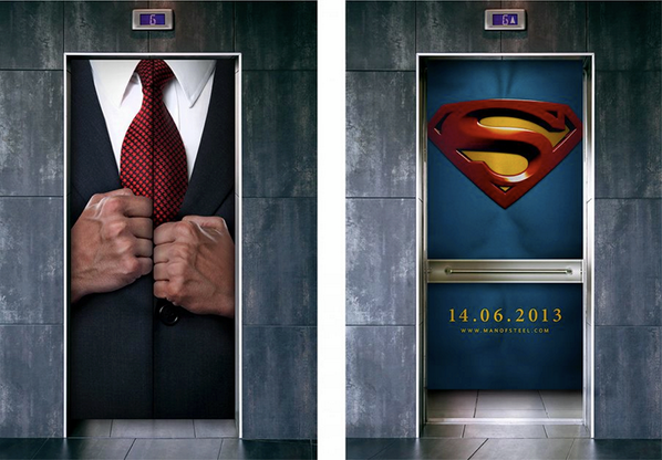 "Man of Steel"" Superman Elevator Ad"