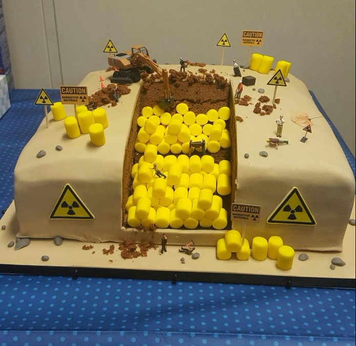 When the radioactive waste manager has birthday