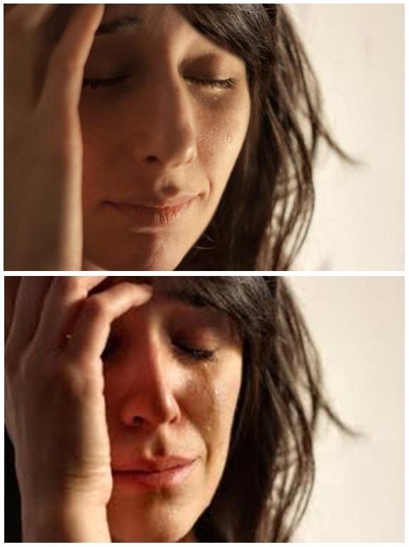 מם אישה בוכה זוג