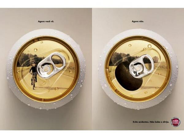 Anti drink driving poster by Fiat in Brazil