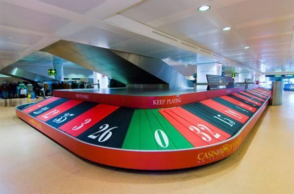 Casino ads on the airport