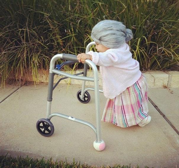 תחפושות לפורים - ילדים - תחפושת סבתא