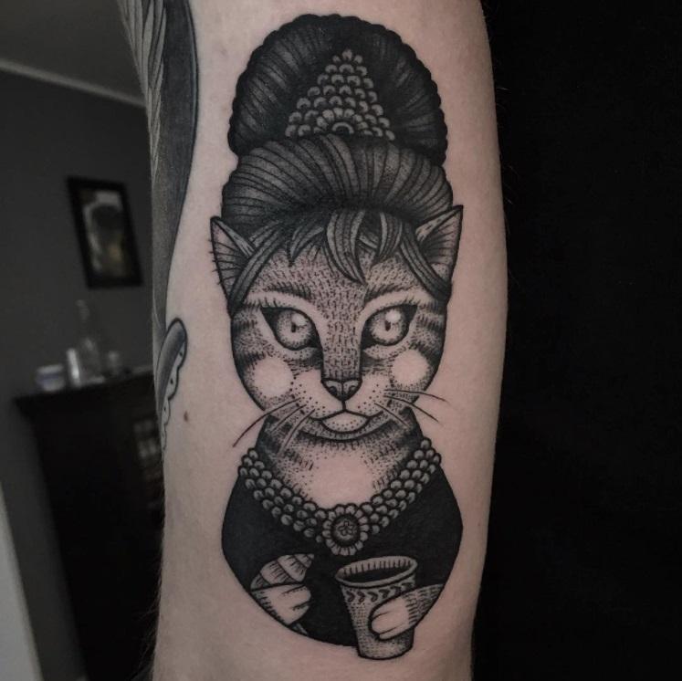 קעקועים של חתולים 10