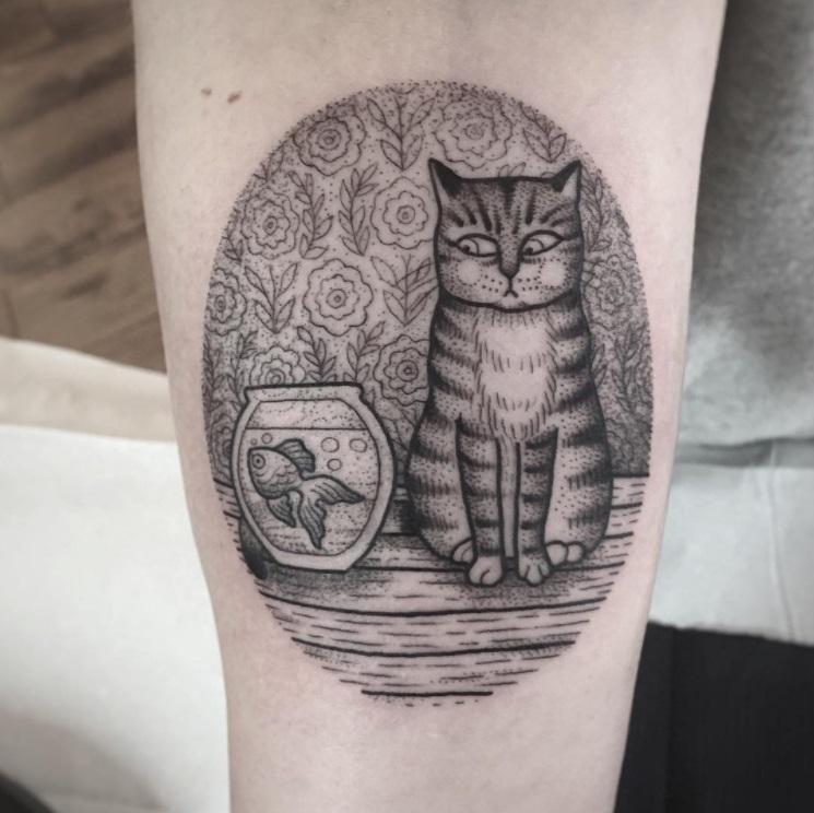 קעקועים של חתולים 4