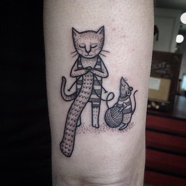 קעקועים של חתולים 8